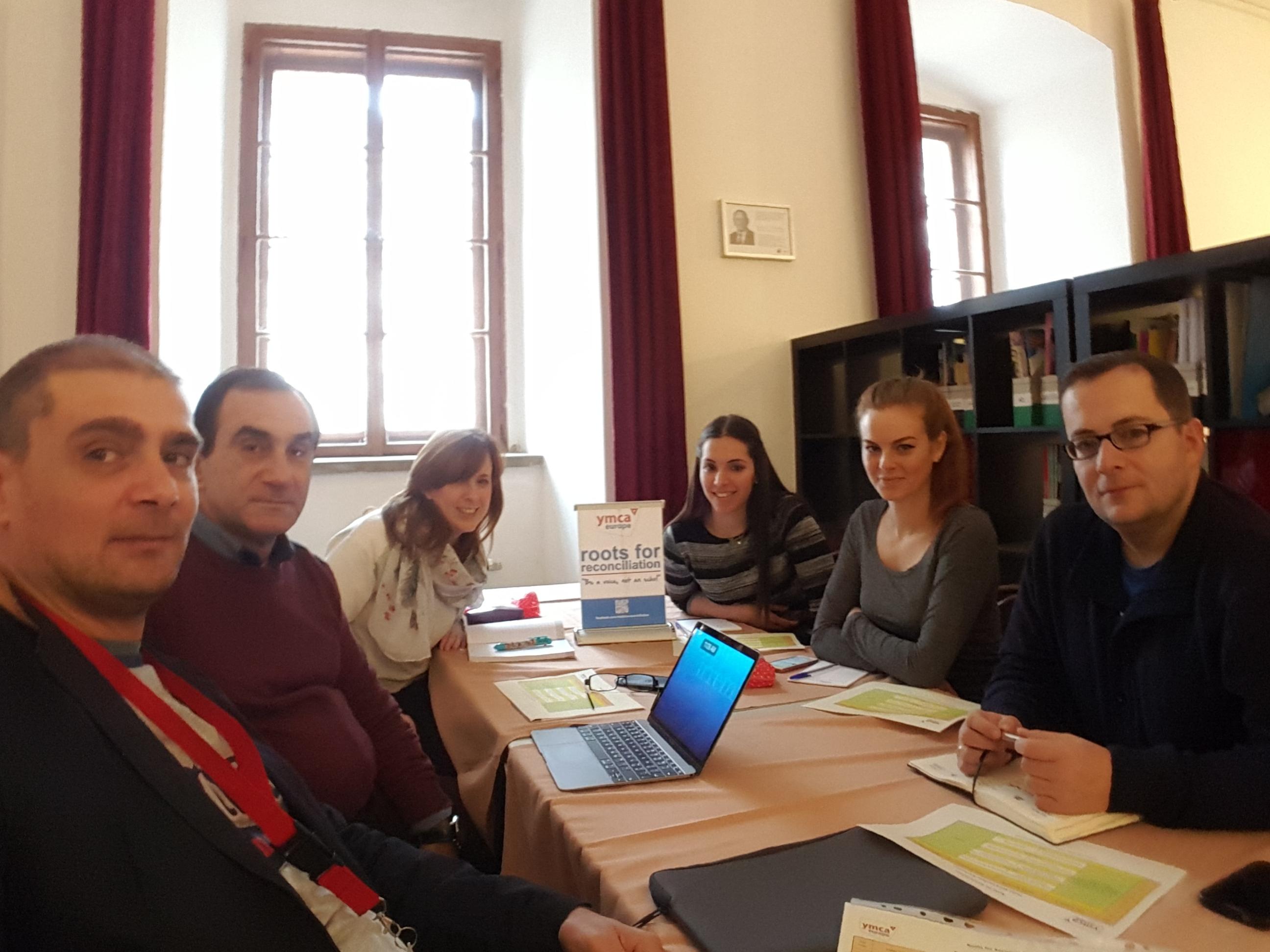 The Peace Work Institute Planning Team: Vardan Hambardzumyan, Rezi Shavladze, Rachel Dyne, Ivana Ilic, Christina Kyriakou, Marius Pop